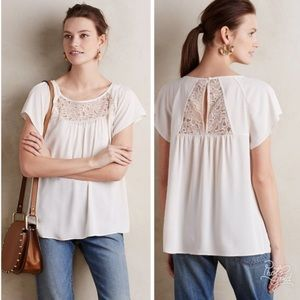ANTHROPOLOGIE MAEVE Orange Lace Trace Top Size 2